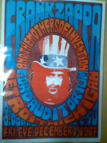 Frank Zappa Repro Concert Poster Detroit U s A 01 12 1967 | eBay