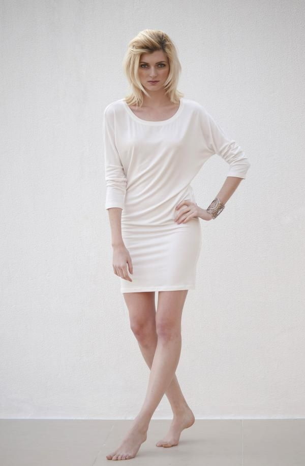 Material: Modal jersey Includes Nude is Rude Signature Belt  Can be worn as a dress or layered over leggings