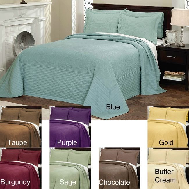 Vibrant Solid Colored Microfiber Cotton Quilted French Tile Bedspread Feelings The O Jays And For