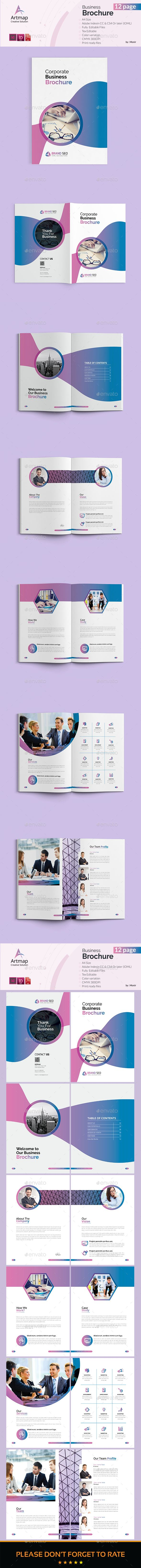 Business Brochure Template 12 Pages Coverpage Design Pinterest