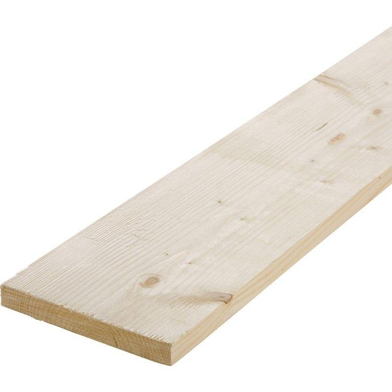 Planche Sapin Petits Noeuds Brut 25 X 200 Mm L24 M