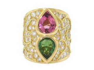 Marina B Tourmaline and Diamond Ring in 18K