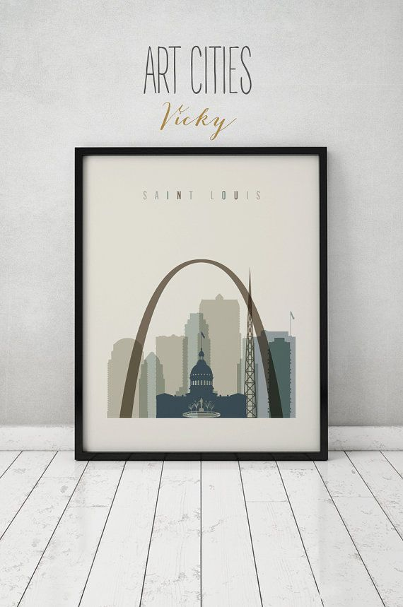 Saint Louis Art Print Poster Wall Art Saint Louis Skyline