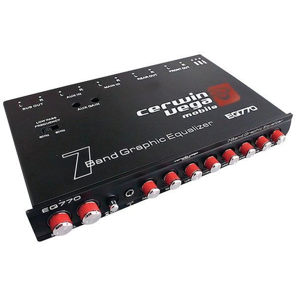 Cv 7 Band Parametric Equalizer With Aux Input Cerwin Vega Mobile