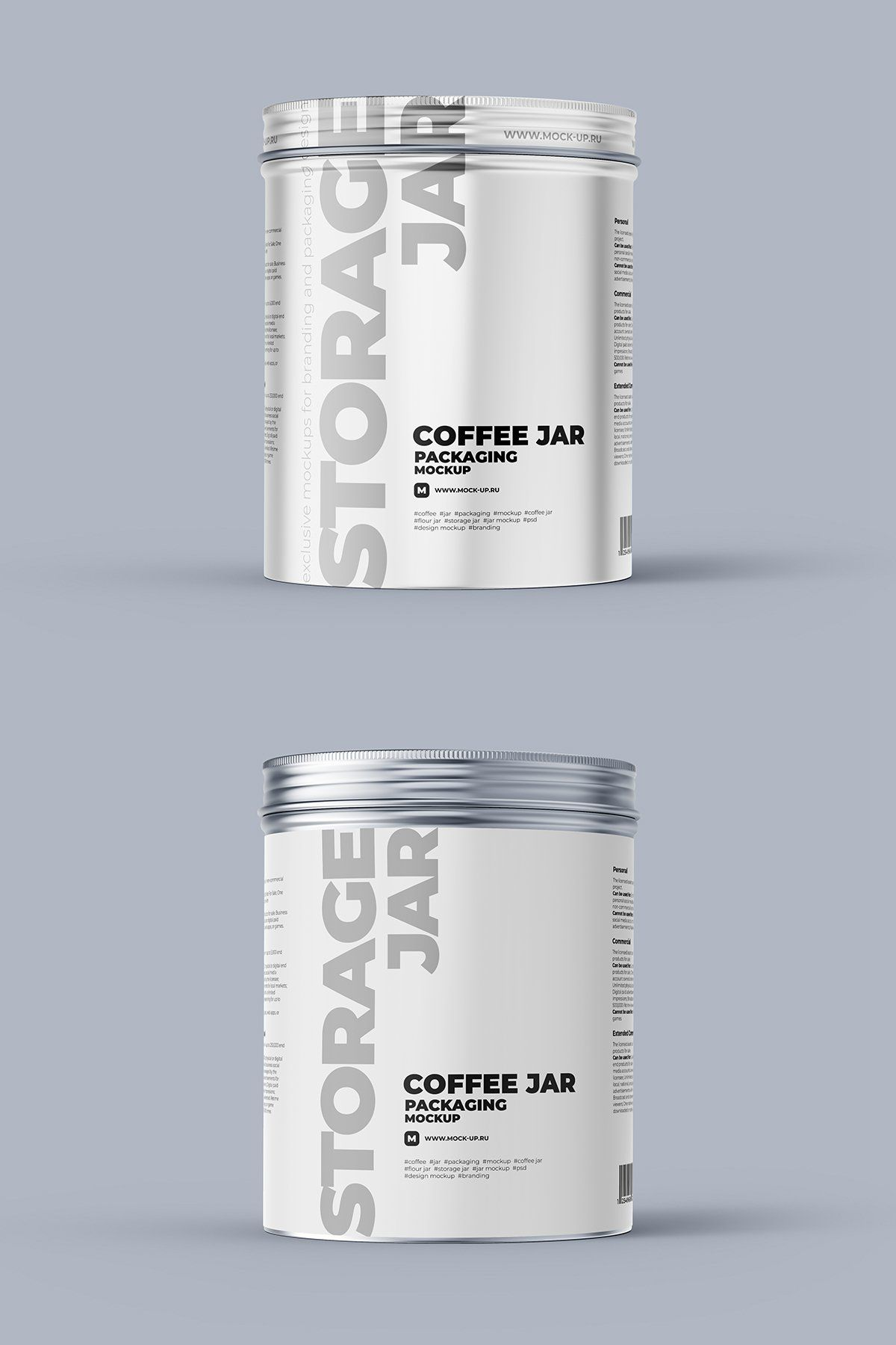 Download Metallic Storage Closed Jar Front 2 Psd 984400 Products Design Bundles In 2021 Template Design Jar Packaging Business Card Logo