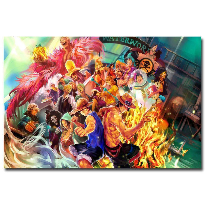 One Piece Strong World Anime Monkey D Luffy Art Silk Poster 12x18 24x36