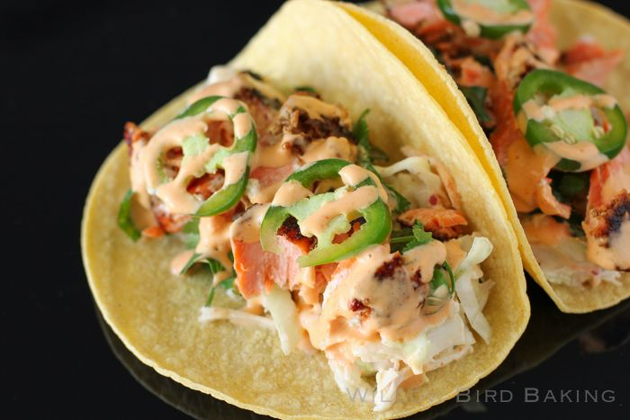 Salmon Tacos with Cilantro-Lime Slaw #cilantrolimeslaw