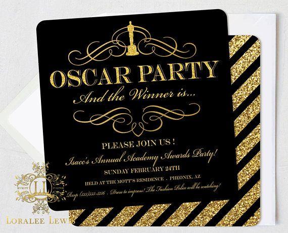 Oscars Party Invitations Karis Sticken Co