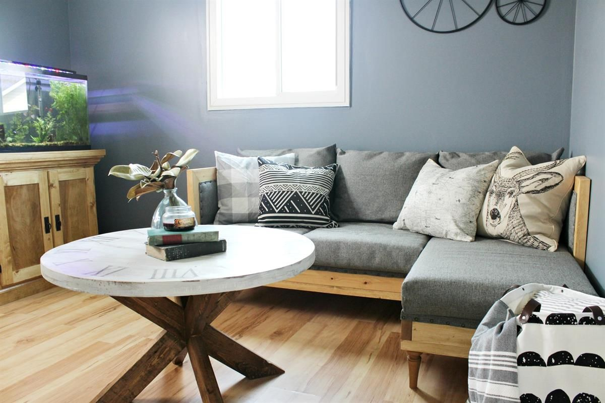 Build This Modern Diy Couch For Your Living Room Man Cave Kid S Playroom Or Even For A Sitting Area In Your Bedroom Diy Furniture Couch Diy Sofa Diy Couch