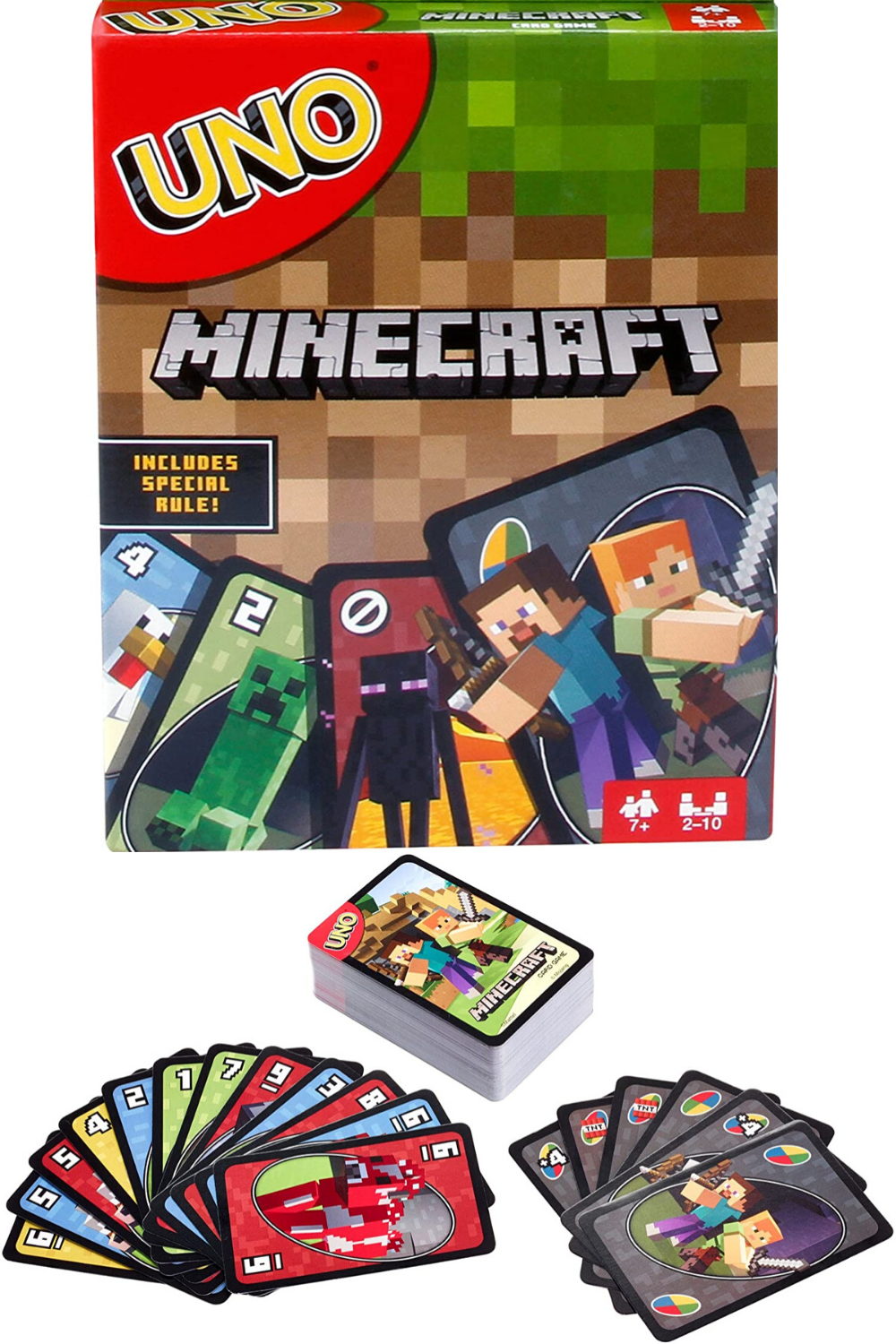 UNO Minecraft Card Game Children Educational Party Family Kids Toy Fun Boardgame