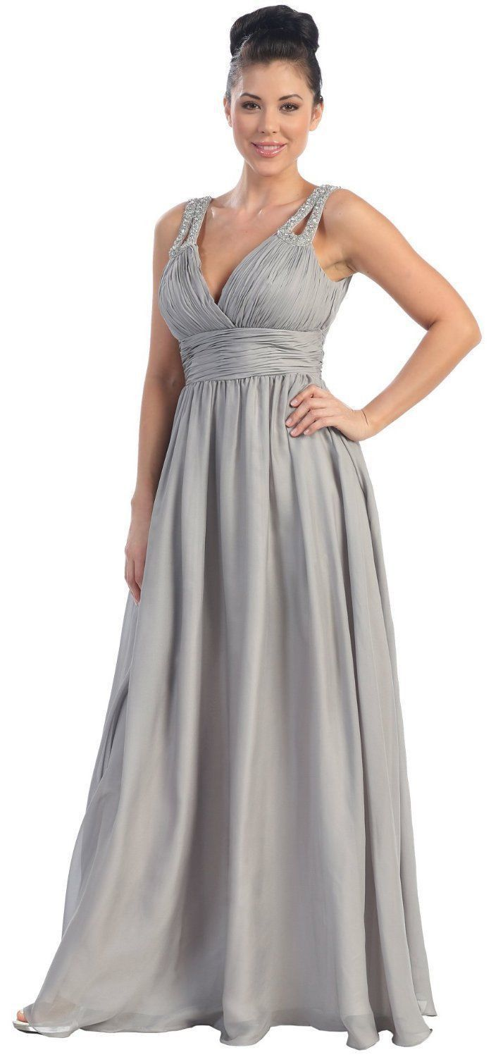 Long formal bridesmaid dress ruched bodice prom everything prom
