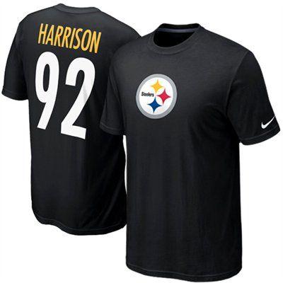 ... NFL Pittsburgh Steelers Elite Jerseys Pinterest; Nike James Harrison  Pittsburgh Steelers 92 Name Number T-Shirt - Black