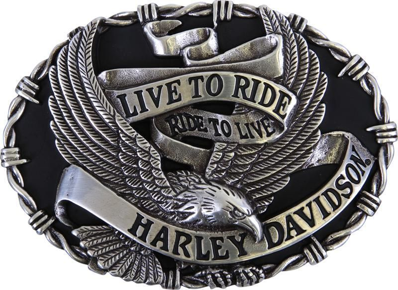 Details about Harley Davidson Mens Eagle Banner with Barbed Wire ... b977328ece0