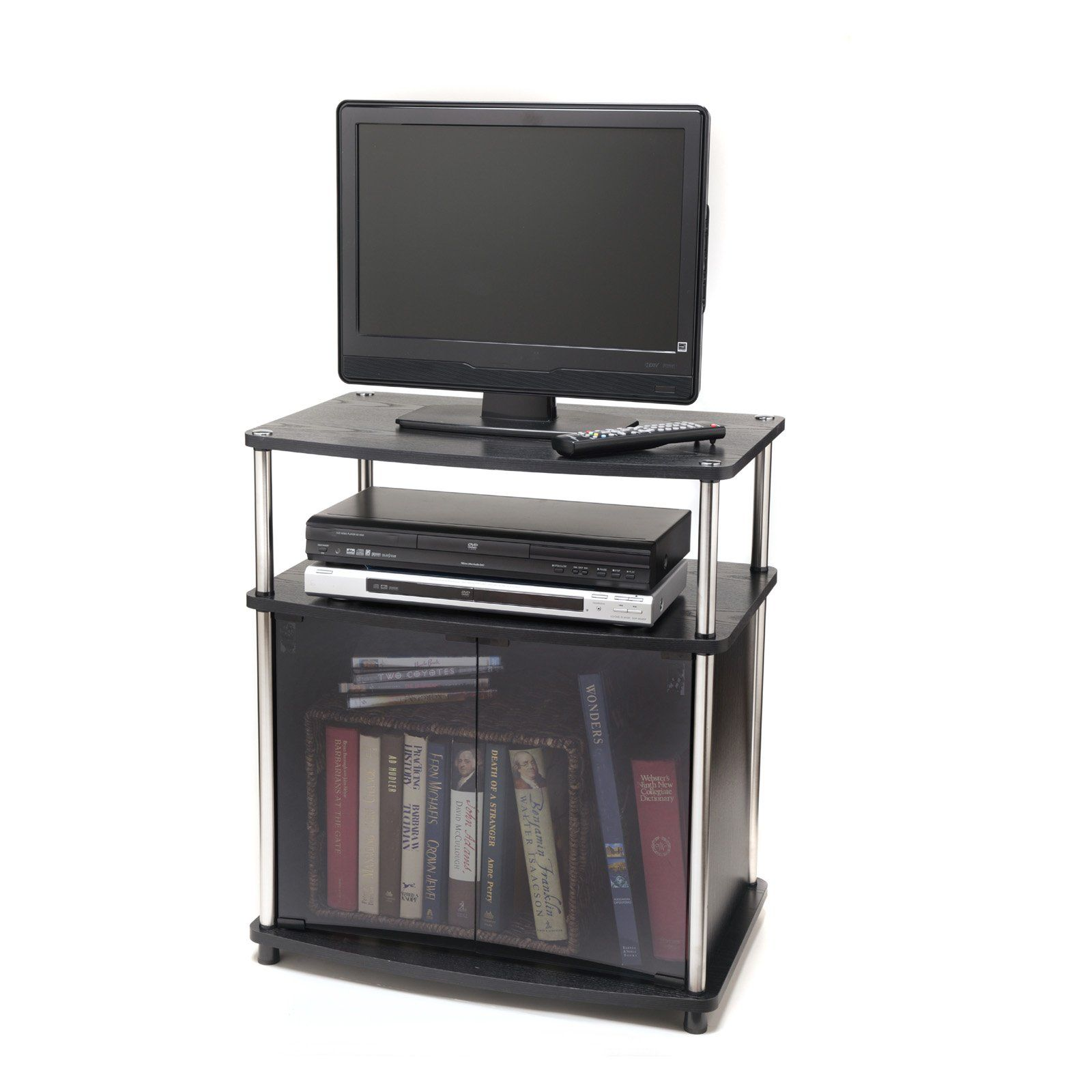 Convenience Concepts Designs2go Tv Stand With Cabinet Tv Stand With Glass Doors Convenience Concepts Tv Stand Cabinet Convenience concepts tv stand