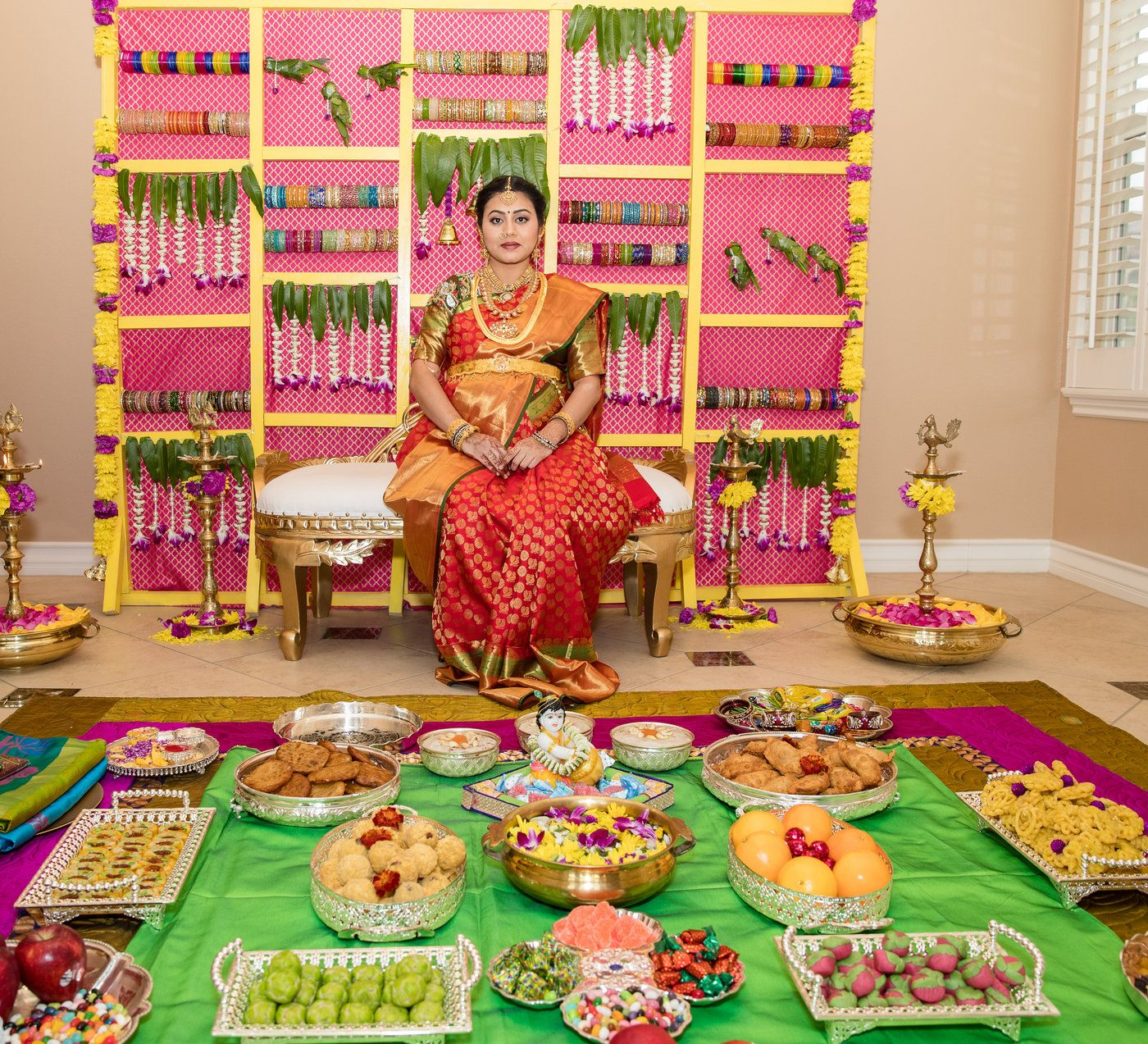 Indian Style Baby Shower Decoration At Home
