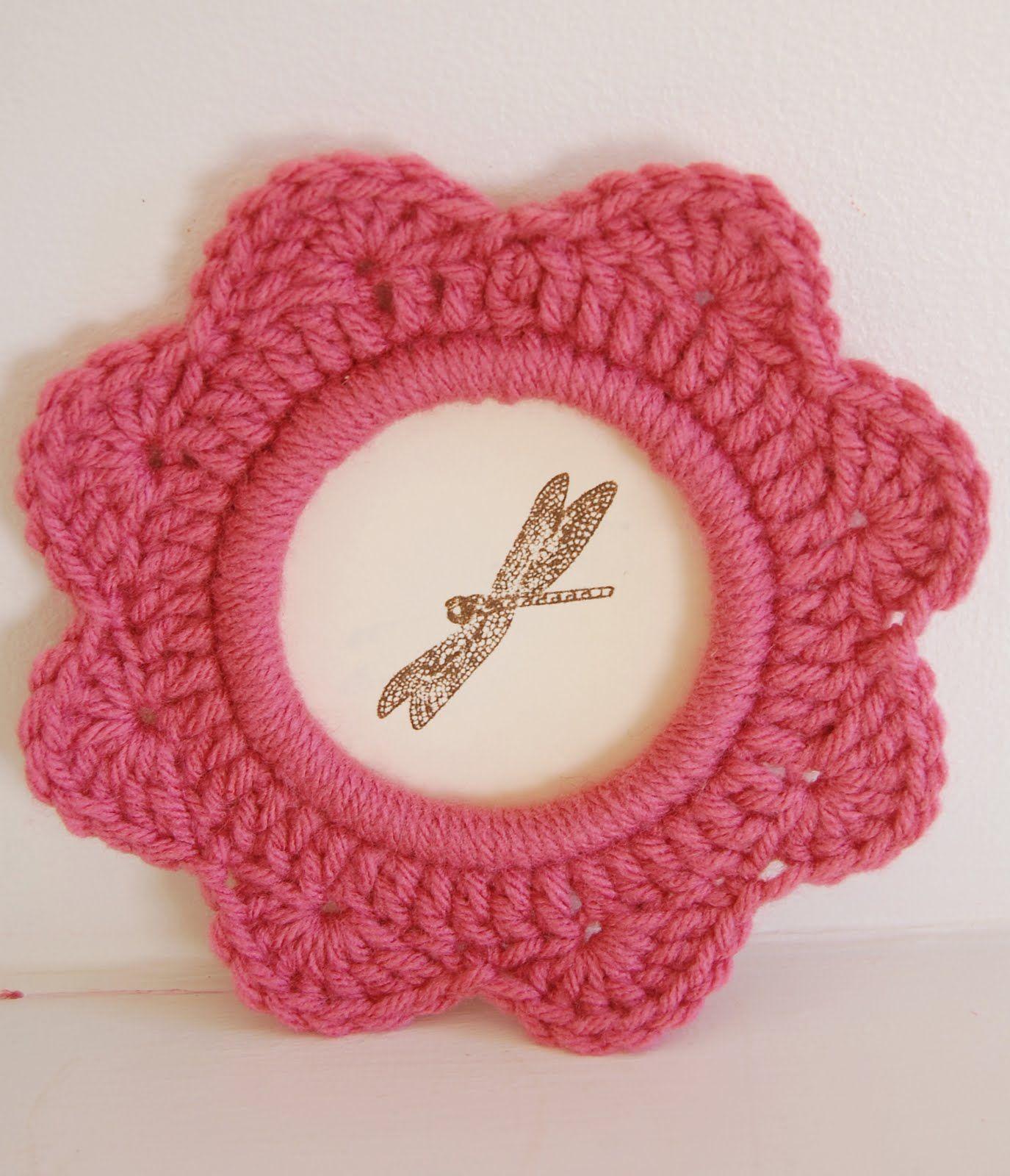 Marco de foto redondo | crochet varios | Pinterest | Kleinigkeiten ...