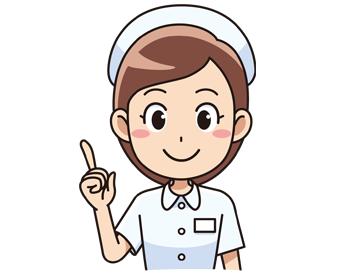 指を指す女性看護師さん無料イラスト素材 イラスト素材図鑑