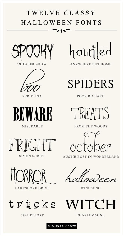 12 Free Halloween Fonts , No Tricks, All Treats
