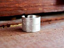 Travel Ring Sterling Silber Handmade