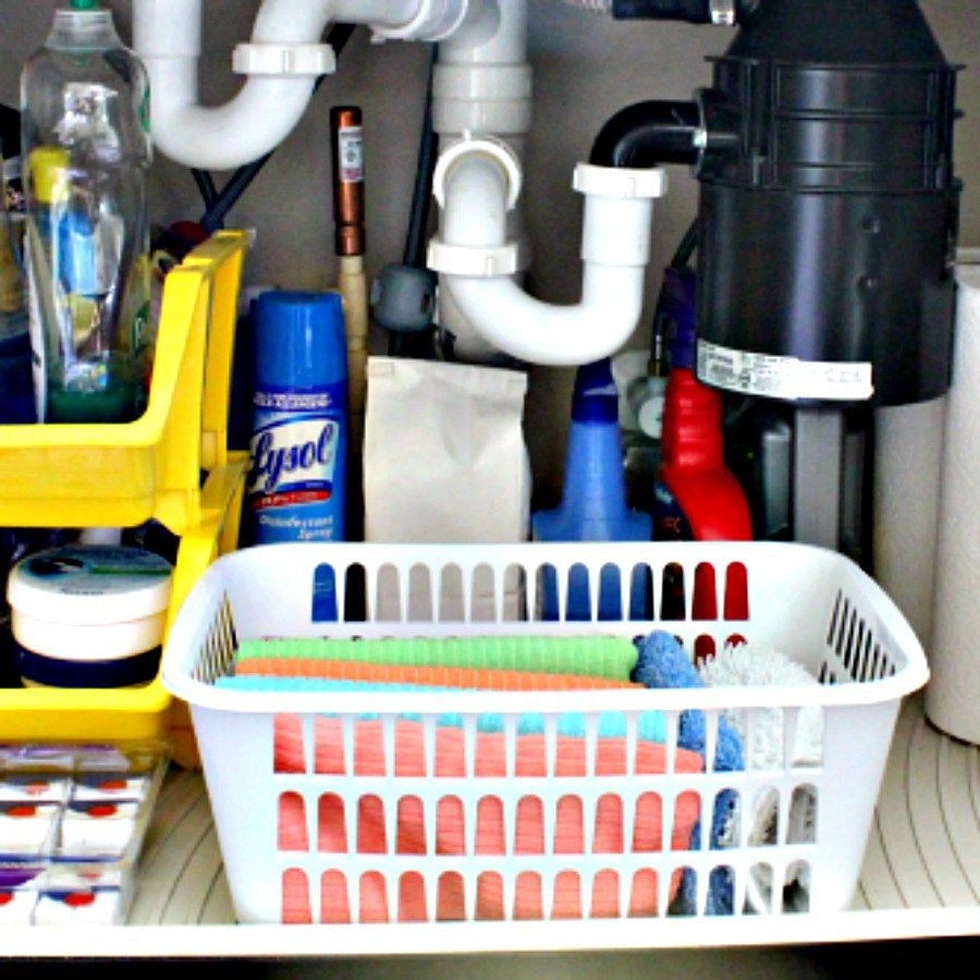 A fast organize project under the kitchen sink how to