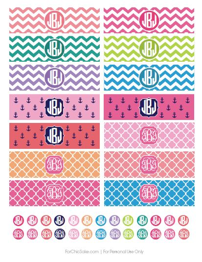 FREE monogrammed iPhone Charger Wraps. Print yours today at