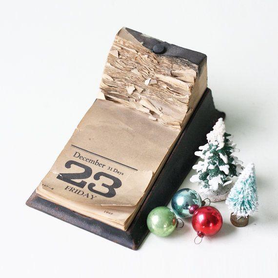 Vintage 1950 Calendar December 23 24 25... by bellalulu on Etsy
