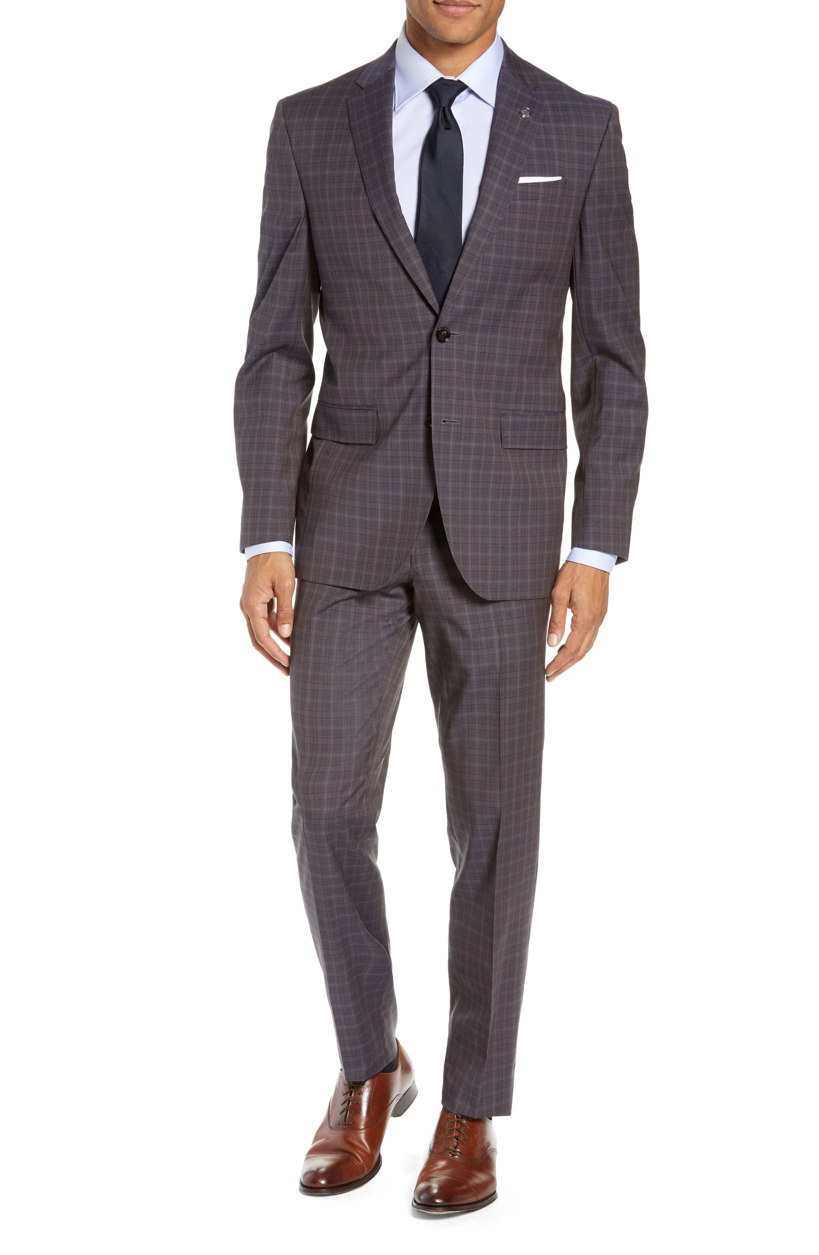1dc5e3213c3c89 TED BAKER JAY TRIM FIT PLAID WOOL SUIT.  tedbaker  cloth