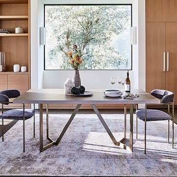 Tower Dining Table Concrete West Elm Dining Room Concrete Dining Table Dining Table