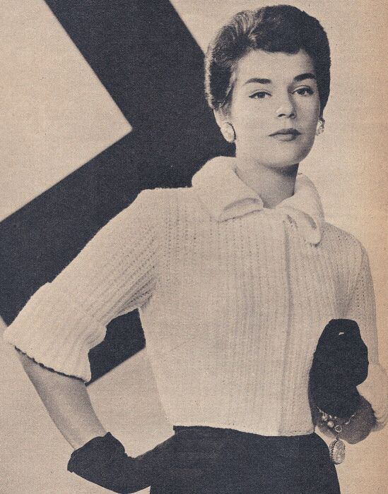 Vintage Collared Shortie Jacket Knitting Pattern