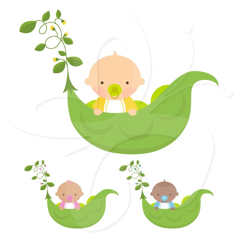 Sweet Pea Baby Shower clipart clip art set from Creative Clip Art ...
