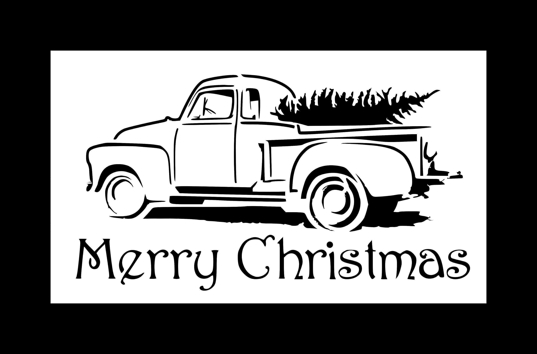 Christmas Tree Truck Stencil//Template Reusable 10 mil Mylar