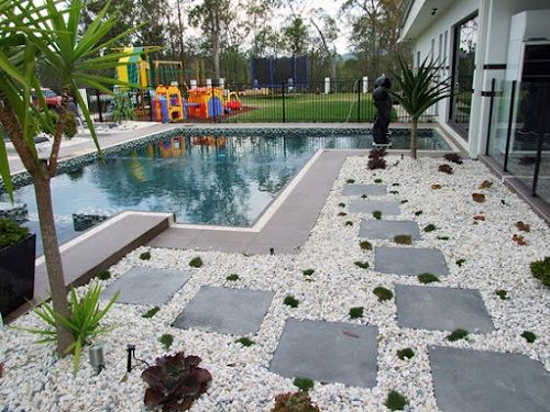 Pool landscaping ideas on a budget house decor ideas for Pool landscaping ideas