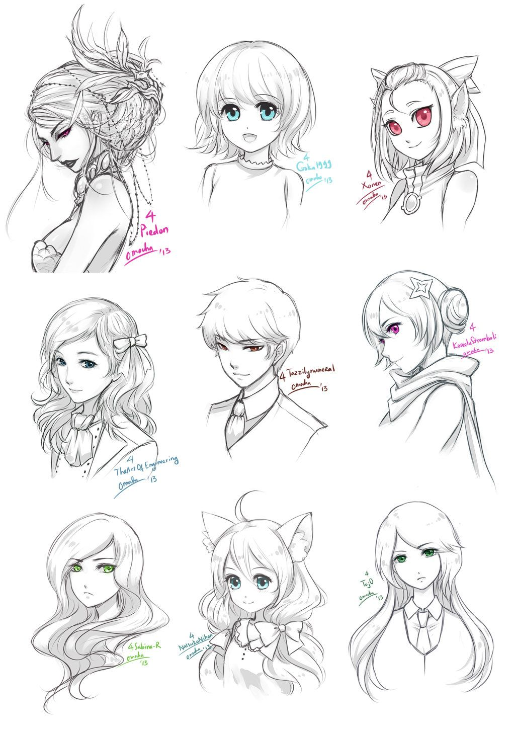 Free Sketches April072013 By Zenithomocha On Deviantart Manga Drawing Anime Sketch Sketches