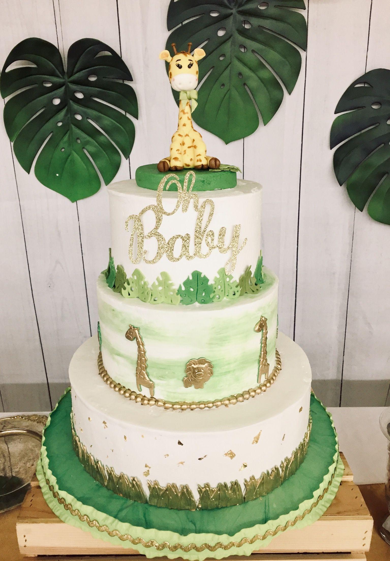 Safari Baby Shower Cake For Boy : safari, shower, Cutest, Safari, Shower, Cake!, 🦒🍃🌿🌴, #safaricake, #babyshowercake, #cakeforbabyshower, #it…, Cake,, Giraffe,, Jungle
