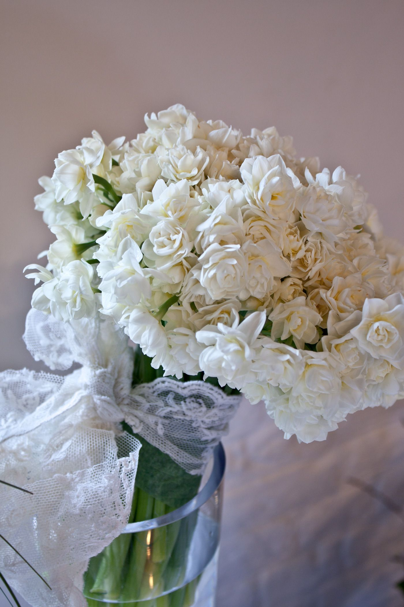 White Narcissus Bridal Bouquet I Pinned This Not For The Style Of
