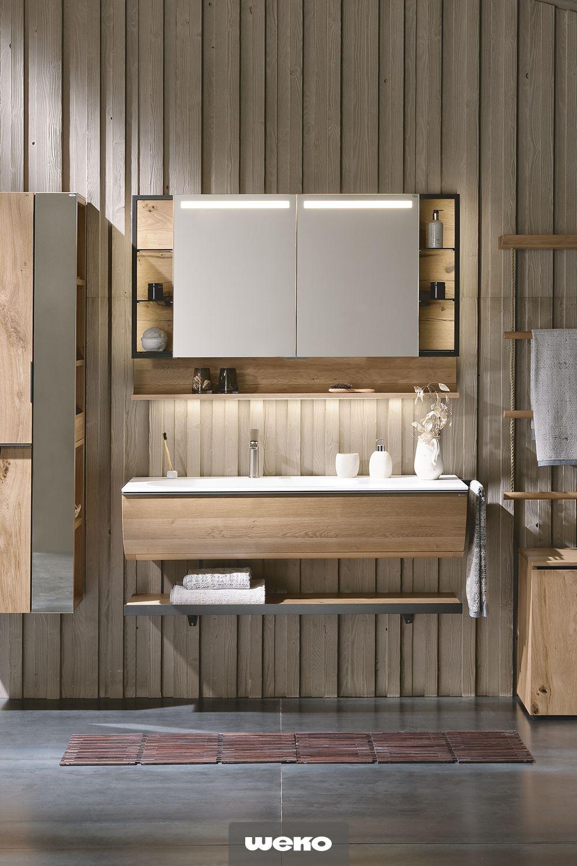 Dem Alpinen Markenkern Verpflichtet Entwickelte Voglauer Fur Den Badbereich Ein Einzigartiges Badkonzept V Quell Neues Bad Ideen Spiegelschrank Bad Neues Bad