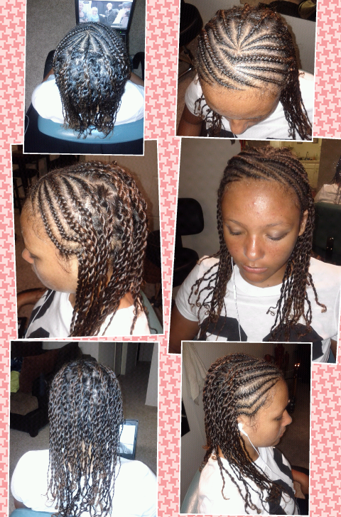 cornrows and two-strand twist
