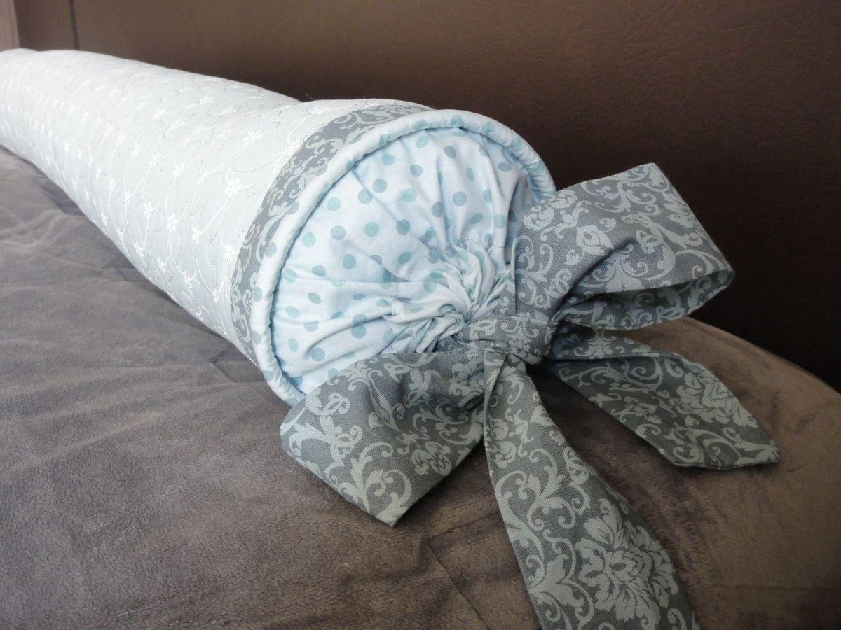 Almofada rolo para cama Queen. <br>1,50 m de comprimento <br>Pode ser feito em outras cores e estampas