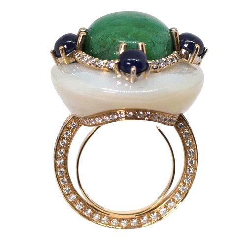 Moonlight Emerald Ring In 2020 Delicate Rings Rings Galaxy Jewelry