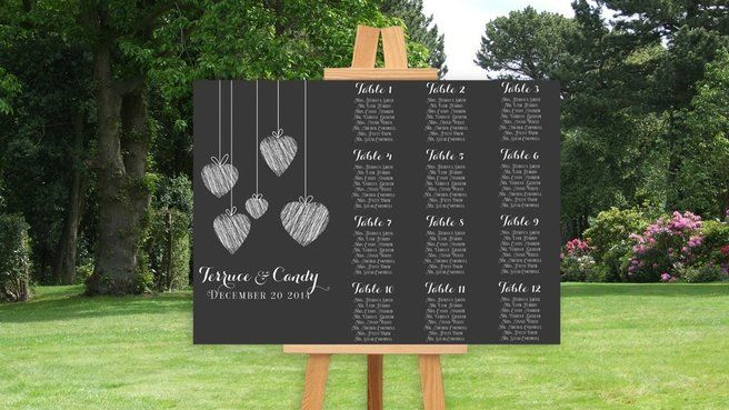 Plan De Table Ardoise Tableau Plan De Table Mariage Miroir, Idée Nom De Table  Mariage