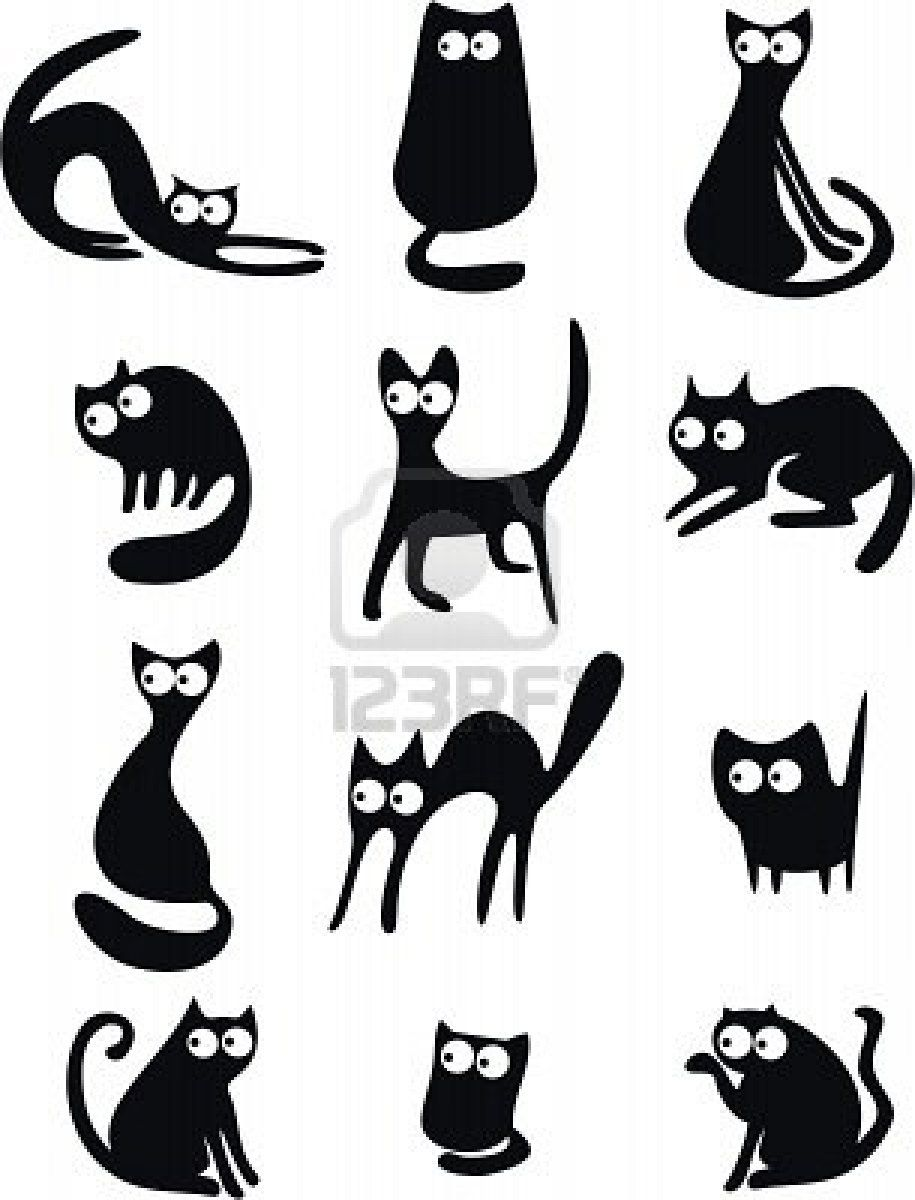 Cat Silhouettes Kresleni Pop Up Pinterest