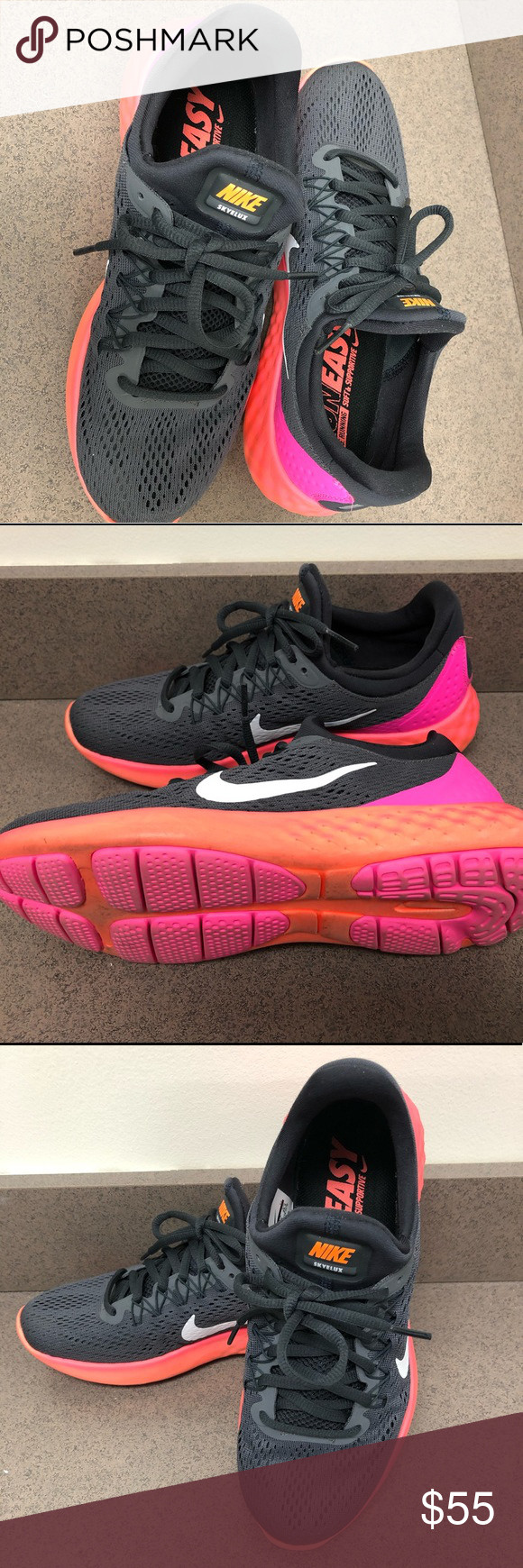 store pretty and colorful best value Nike Lunar Skyelux Running Shoes RUN EASY- Nike Running Soft ...