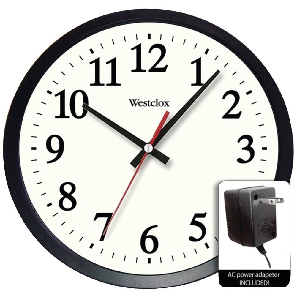 wall clocks for office. WESTCLOX 32189A 14 Round Electric Powered Office Wall Clock Clocks For L