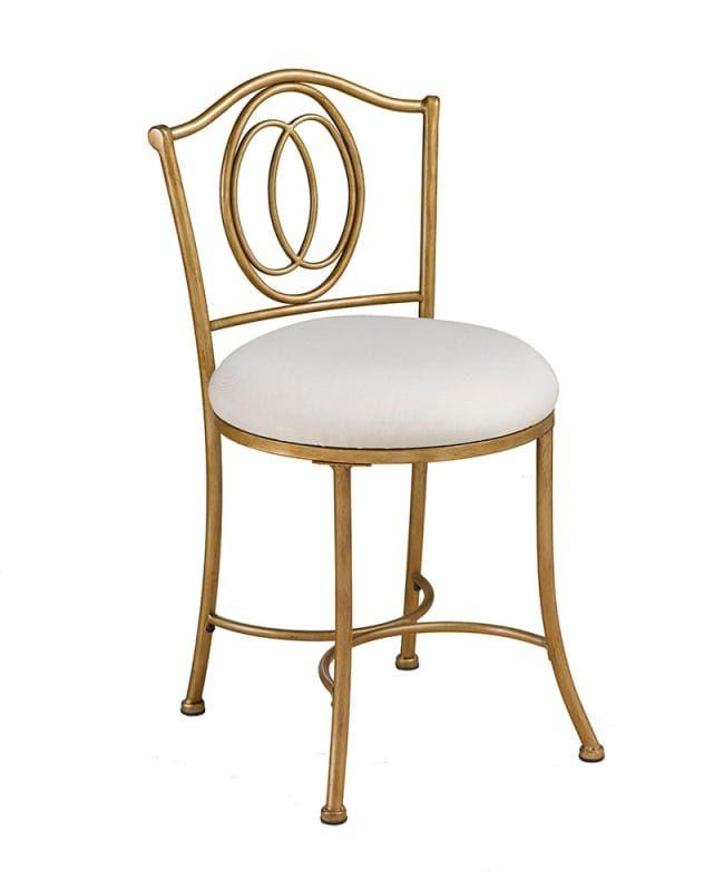 Hillsdale Furniture 50945 Emerson 20 Inch Wide Metal Vanity Stool