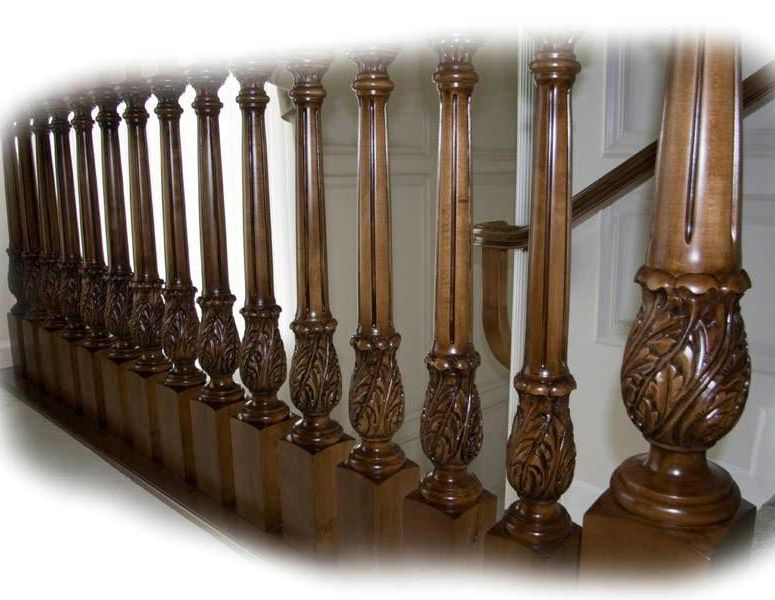 Best Carved Wood Balusters And Newels Staircase Wood 400 x 300