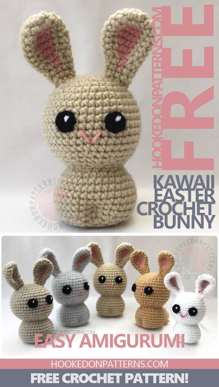 Free Crochet Bunny Pattern for Easter - Kawaii style bunnies ...