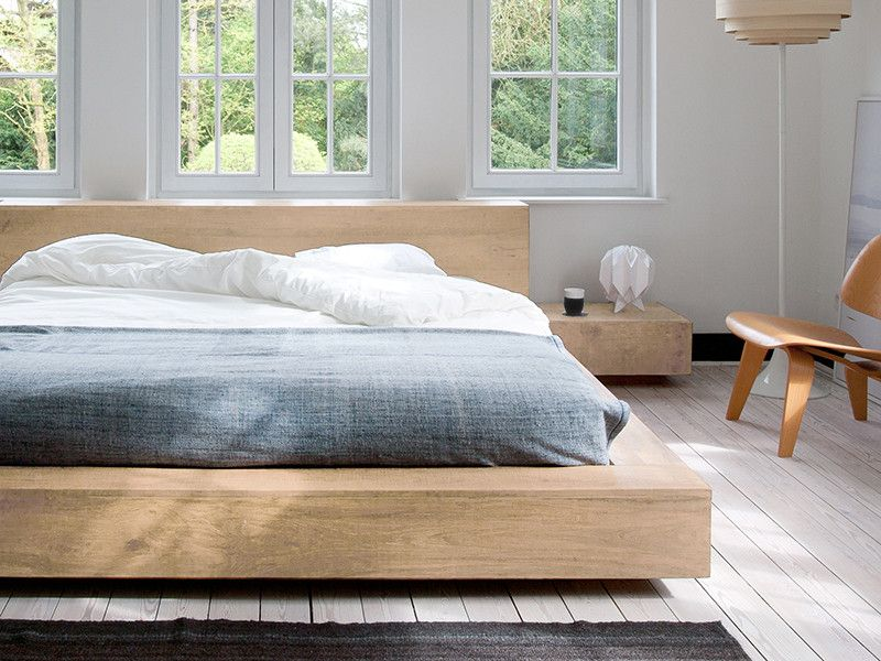 Madra Bed Ethnicraft : Ethnicraft oak madra queen size bed new place bed