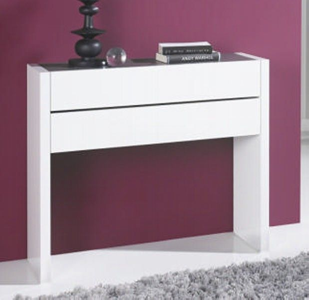 console d 39 entr e 2 tiroirs couleurs aux choix allan. Black Bedroom Furniture Sets. Home Design Ideas