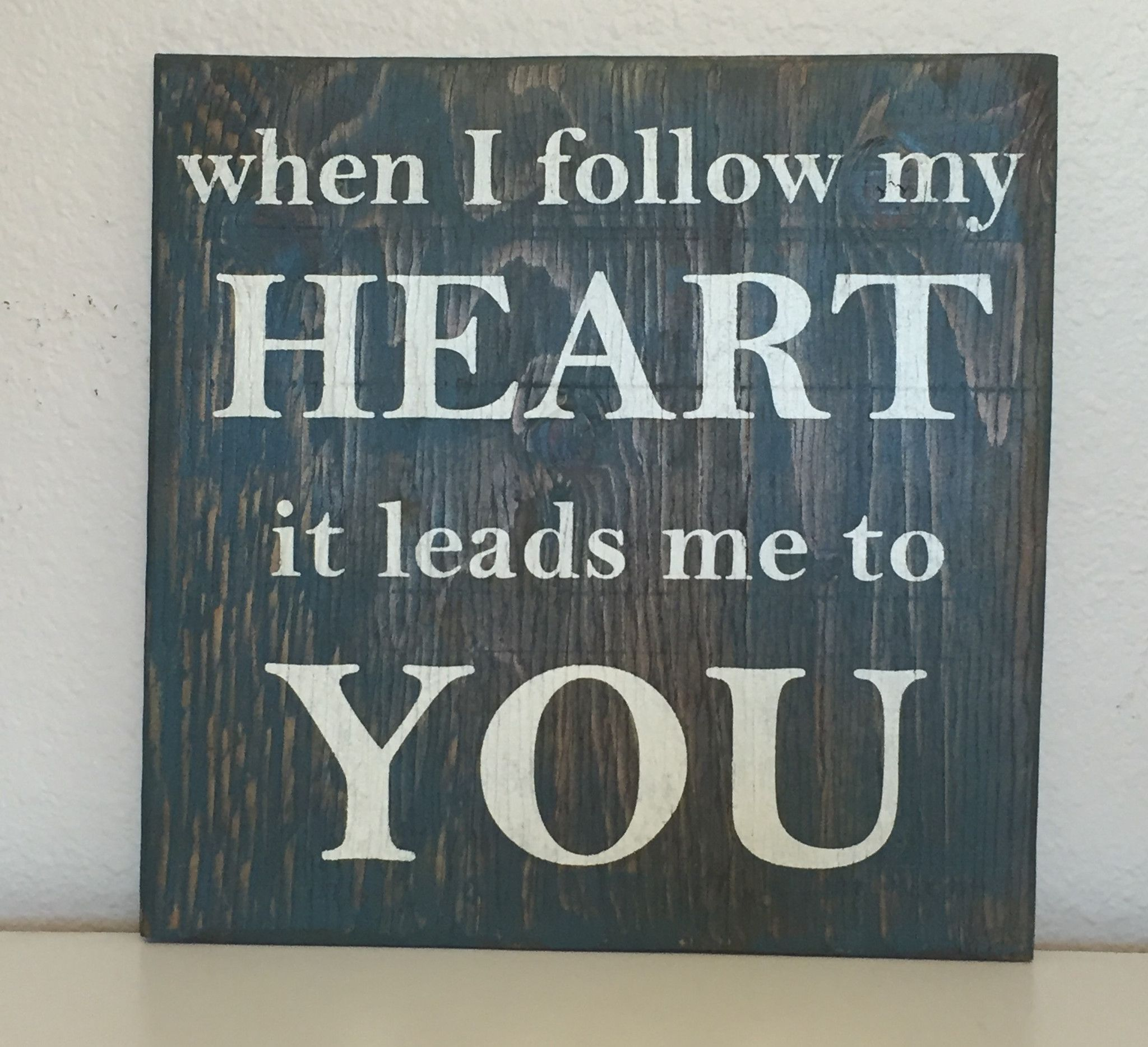 Follow My Heart Sign, Love sign, Wedding Gift, Valentine\u0027s Day ...