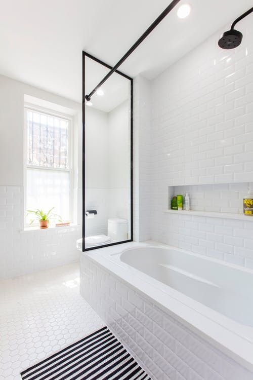 Before  after this   bath got  sleek modern look apartment therapy also perma dirty is now crisp clean